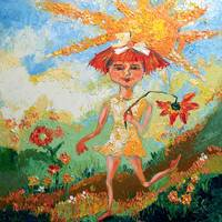 Have a Sunny Day Oil Painting by Ginette