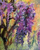 Wisteria - Oil painting by Ginette