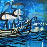 """Santa Monica Bay Blue Viks Ship"" by DavidHinnebusch"
