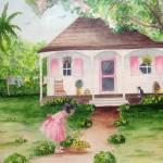 """Girl water Plants"" by AlexanderArt"
