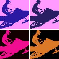 Snowmobiler/Pop Art
