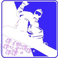 Snowboarder Pop Art