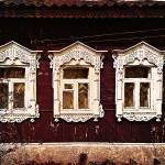 """Three Windows. Russian Izba"" by Linandara"