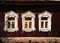 Three Windows. Russian Izba