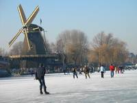 Ice skating by the windmills 2