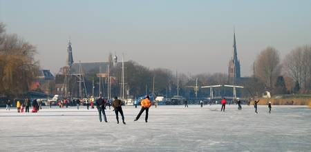 Dutch winter scene on the river 2