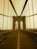 Sepia Booklyn Bridge