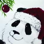 """panda_claus_jolly"" by gbensonart"