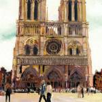 """""""Notre Dame Cathedral by RD Riccoboni"""" by BeaconArtWorksCorporation"""