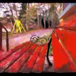 """Red Bench"" by traversecity"