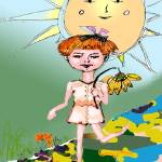 """Have A Sunny Day - Mixed Media by Ginette"" by GinetteCallaway"