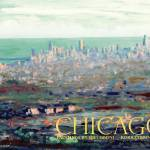 """Above Chicago Abstract Impressionism by Riccoboni"" by RDRiccoboni"