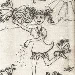 """Feeding The Butterflies Ink by Ginette"" by GinetteCallaway"