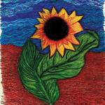 """sunflower painting"" by AngelaHayden"