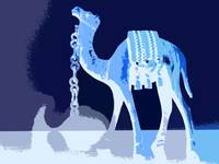 Blue Camel with Blue Sky