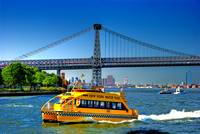 New York Water Taxi & Bridge Scene