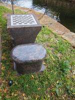 Out Door Checkers and Chess By a Canal