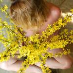 """Nude Woman with Forsythia"" by auNaturale"