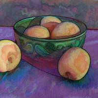 Apricots in a Bowl Art Prints & Posters by Kate Childers