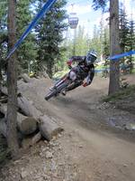Downhill Mountain Biker Colorado