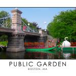 """Public Garden - Lagoon Bridge & Swan Boats"" by astphotos"