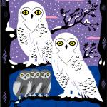 """""""Snowy Owls and Offspring - Limited Edition Print"""" by iotaillustration"""