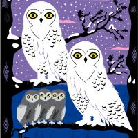 Snowy Owls and Offspring - Limited Edition Print Art Prints & Posters by Oliver Lake