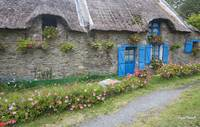 Thatch Roof Breton Farmhouse, France