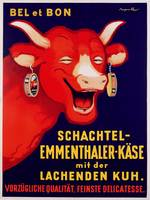 German poster advertising Laughing Cow Cheese