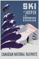 Poster advertising the Canadian Ski Resort Jasper