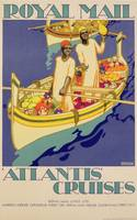 Poster advertising Royal Mail, 'Atlantis' Cruises
