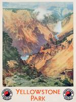 Yellowstone Park, 1934 (colour litho)