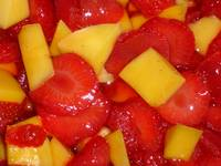 Strawberries and Mango
