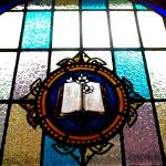 """Rappahannock Baptist Pulpit Window"" by DevinePieces"