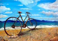 Old Bike by the Beach
