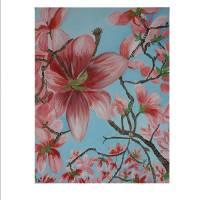 Flowers in the sky Art Prints & Posters by Rachel Pegler