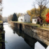 Foggy Autumn Morning at the Kingston Lock