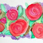 """Watercolor Roses"" by e_ruthart"
