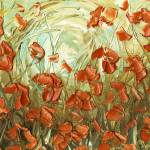 """""""Amber Poppies"""" by modernhouseart"""