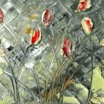 """red tulips"" by modernhouseart"