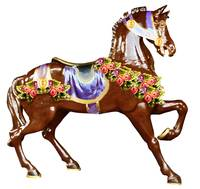Chocolate carousel horse