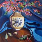 """European Spindle: Polish Pottery XXI"" by 88heather"