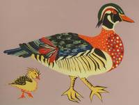 Folk Art Duck and Duckling