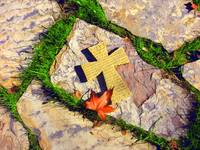 Cross on Stone