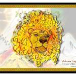"""Lion of Zion - Framed"" by PinevergreenStudio"