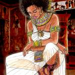 """Nubian Warrior Queen"" by PinevergreenStudio"