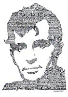 Jack Kerouac Black & White Word Portrait Print