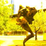 """""""Funky Melbourne public sculpture abstracted"""" by davidflurkey"""