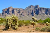 View of the Superstition Mountains
