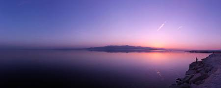 Sunset over the Salton Sea